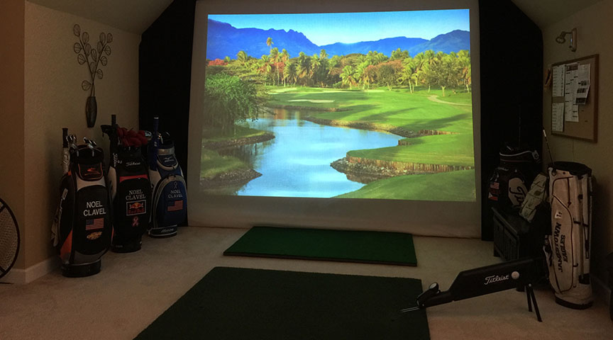 Golf Impact Screen in Clean and Safe Environment