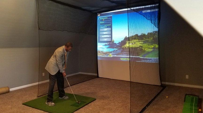 Golf Impact Screen Installation