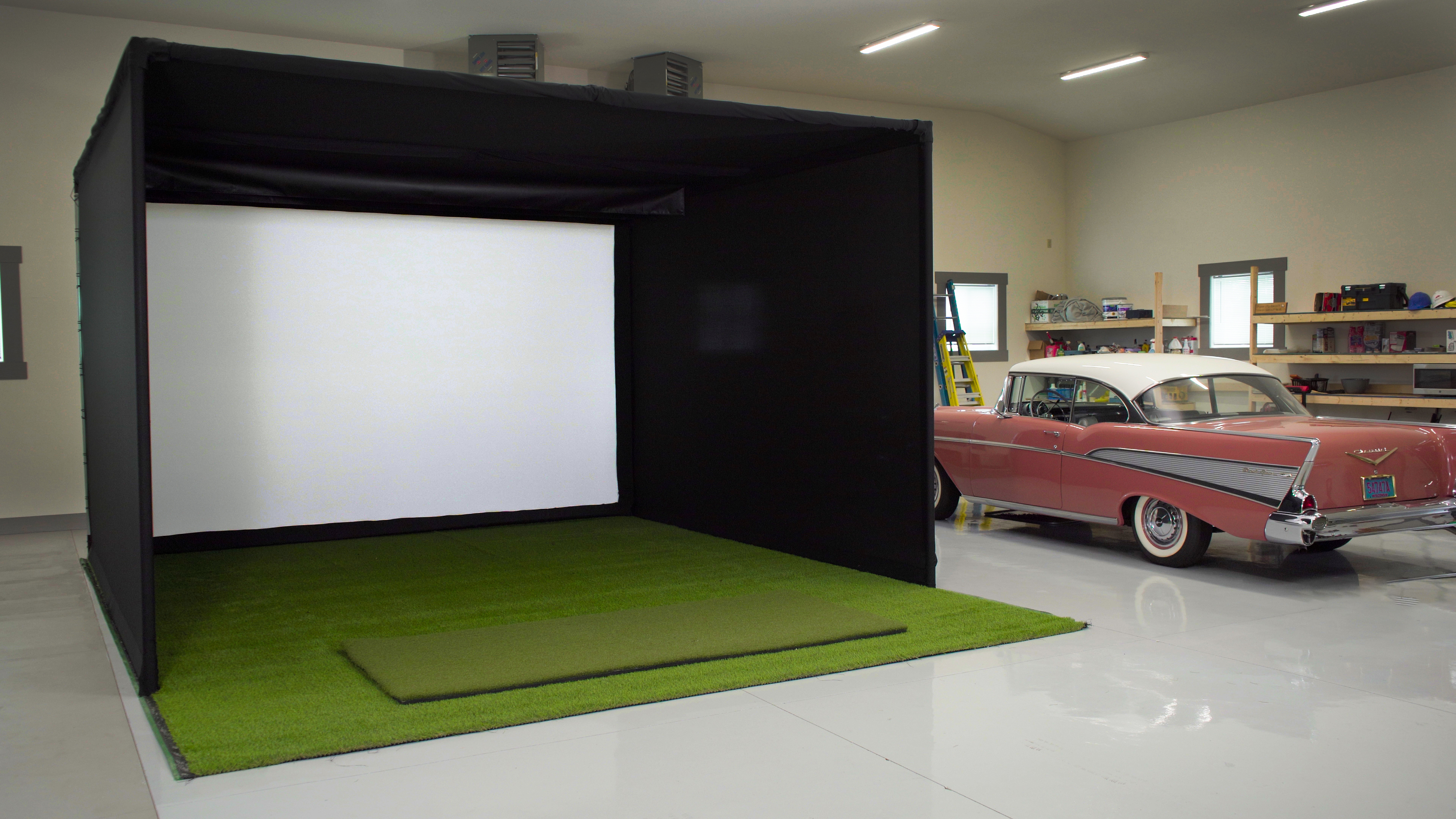 Turn your RV (or large storage space) into Golf Simulator Space