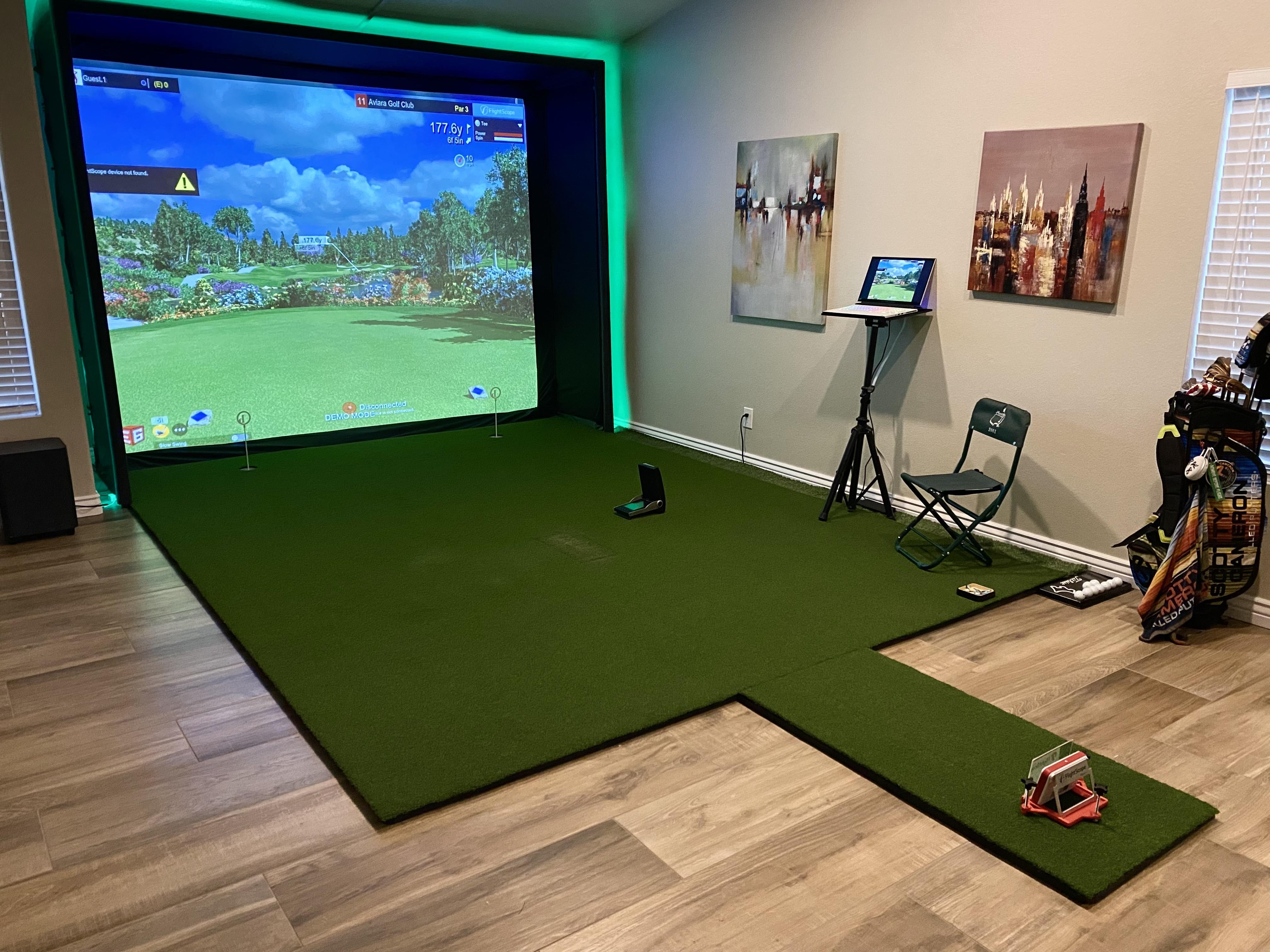 "Customer Feature: Daniel ""DJ"" Johnson's DIY Golf Simulator and Enclosure Room"